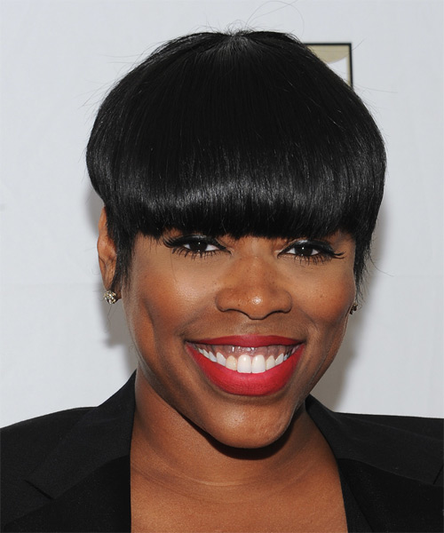 Nicci Gilbert Short Straight Formal Hairstyle - Black Hair Color