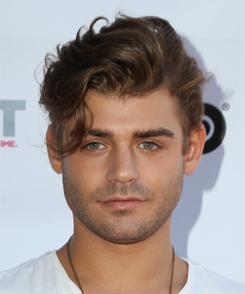 Garrett Clayton Short Wavy Casual Hairstyle