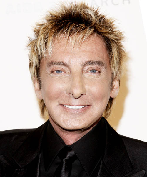 Barry Manilow - Casual Short Straight Hairstyle