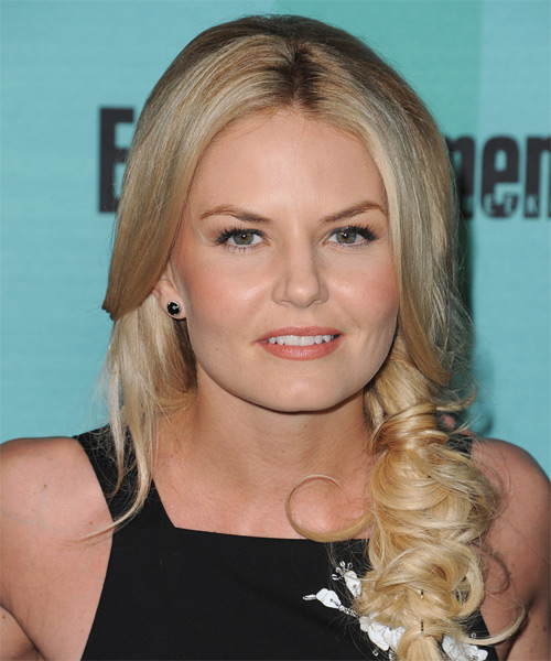 Jennifer Morrison Long Wavy Formal Hairstyle - Medium Blonde Hair Color