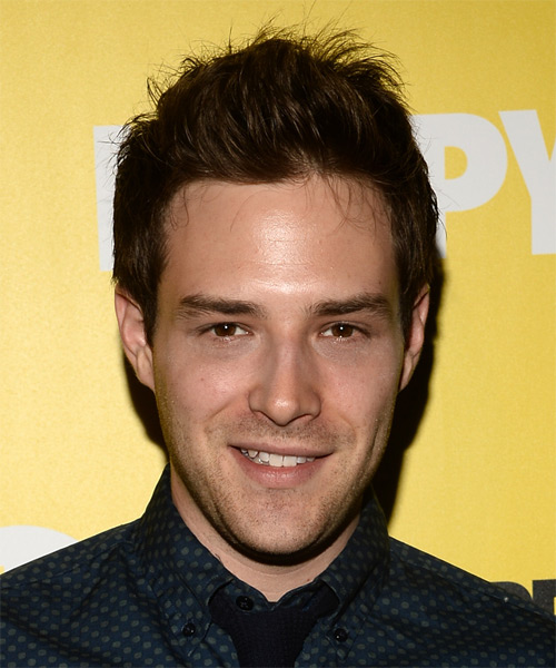 Ben Rappaport Short Straight Casual Hairstyle - Dark Brunette Hair Color