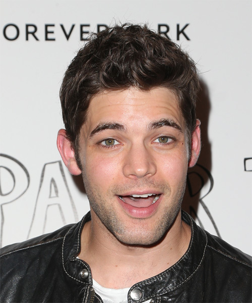 Jeremy Jordan Short Wavy Hairstyle - Medium Brunette (Chocolate)