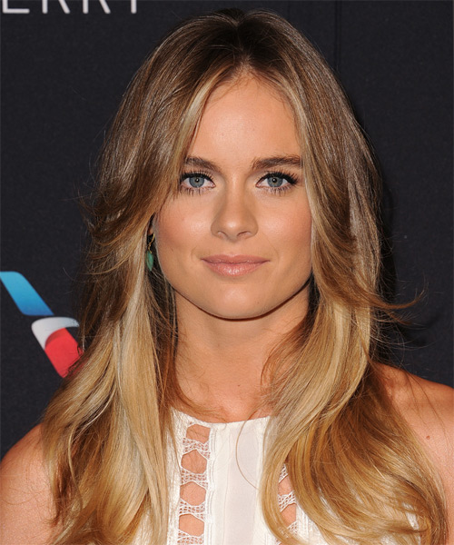 Cressida Bonas Long Straight Casual Hairstyle Brunette