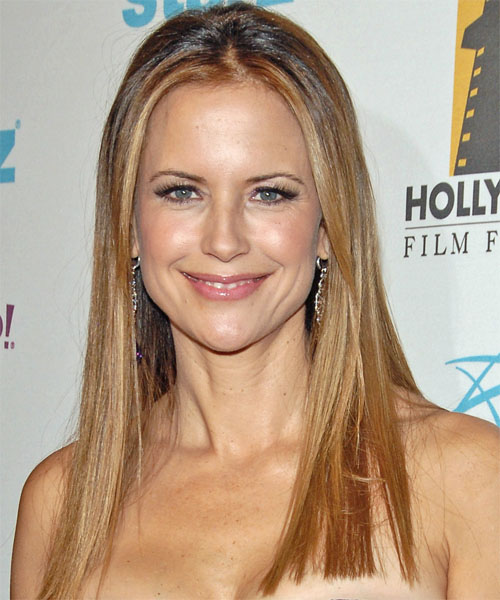 Kelly Preston - Straight  Long Straight Hairstyle