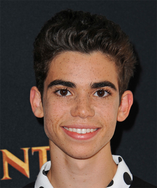 Cameron Boyce Short Straight Casual Hairstyle - Dark Brunette Hair Color