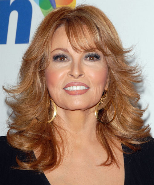 Raquel Welch Long Wavy Formal Hairstyle
