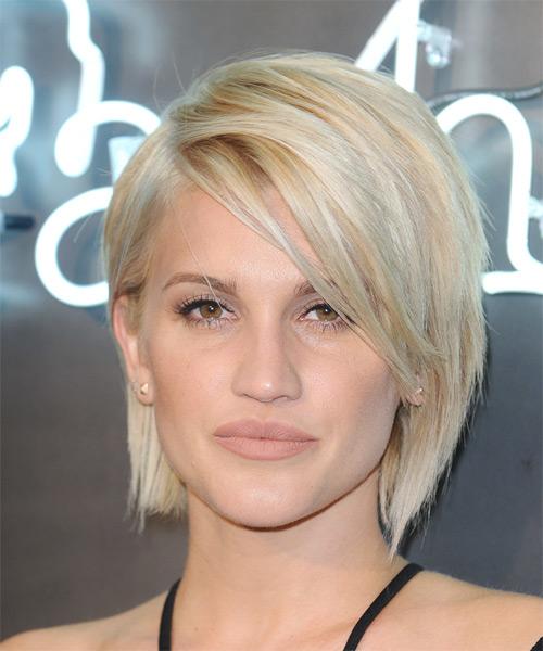 Marvelous Ashley Roberts Medium Straight Casual Bob Hairstyle Light Blonde Short Hairstyles For Black Women Fulllsitofus