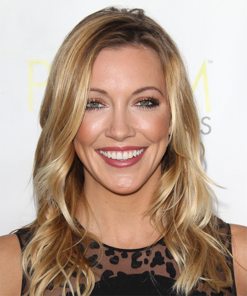 Katie Cassidy Long Wavy Casual
