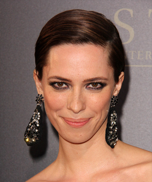Rebecca Hall Short Straight Formal Hairstyle - Dark Brunette Hair Color
