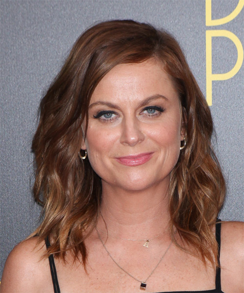 Amy Poehler Medium Wavy Casual  - Medium Brunette (Chocolate)