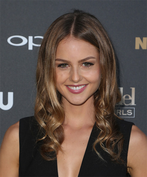 Isabelle Cornish Long Wavy Formal  - Medium Brunette