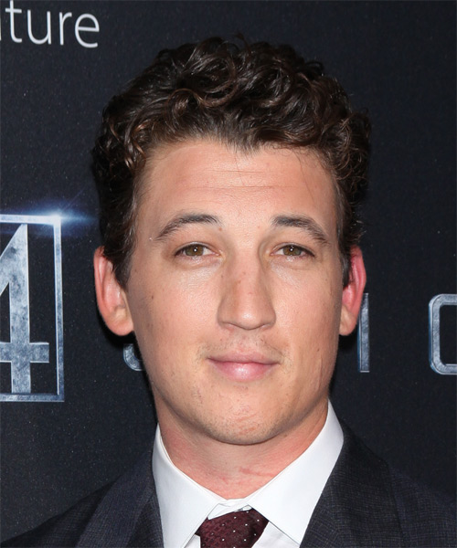 Miles Teller Short Wavy Formal Hairstyle