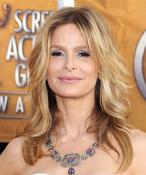 Kyra Sedgwick Long Wavy Hairstyle