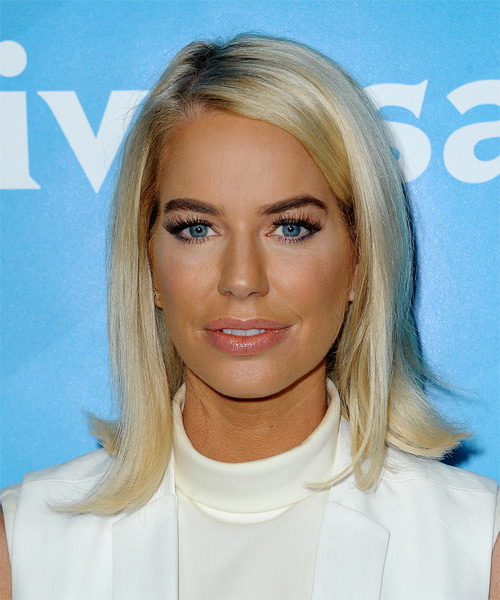 Caroline Stanbury Medium Straight Formal Hairstyle - Light Blonde Hair Color