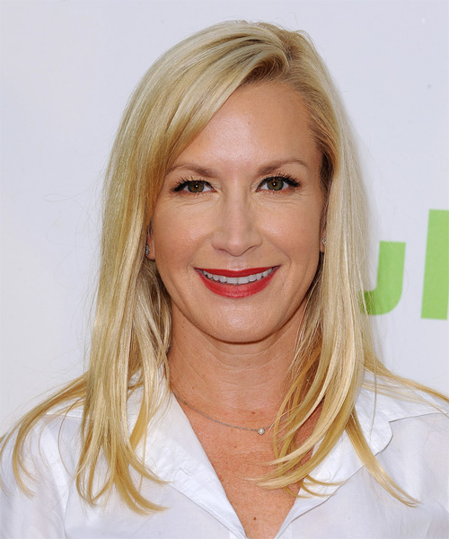 Angela Kinsey Long Straight Formal  - Light Blonde