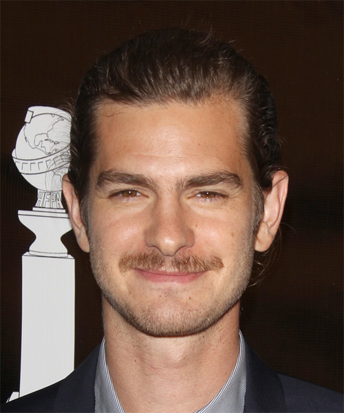 Andrew Garfield Short Straight Formal Hairstyle (Chocolate)