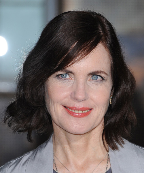 Elizabeth Mcgovern Medium Wavy Casual Bob Hairstyle Mocha