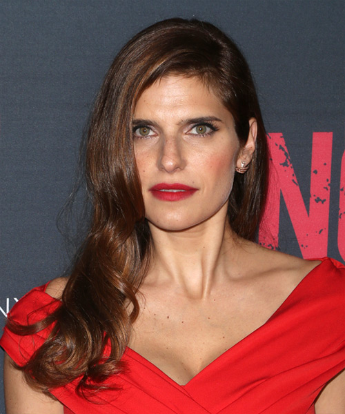 Lake Bell Long Wavy Formal  - Dark Brunette
