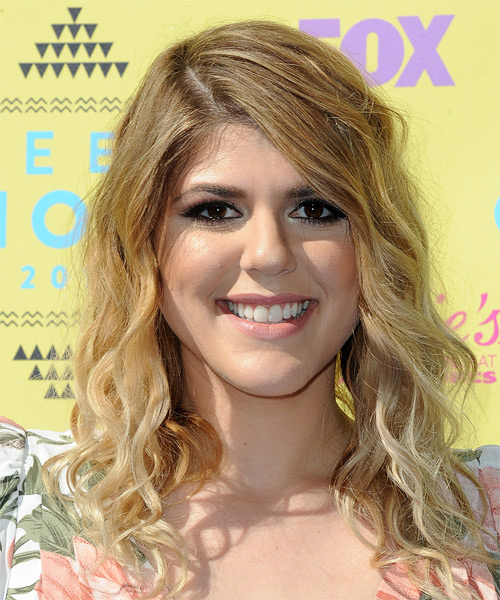 Molly Tarlov Long Curly Casual Hairstyle - Medium Blonde Hair Color