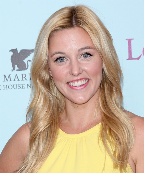 Taylor Louderman Long Straight Casual Hairstyle - Medium Blonde Hair Color