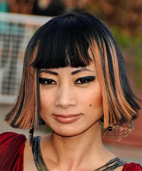 Bai Ling Medium Straight Hairstyle
