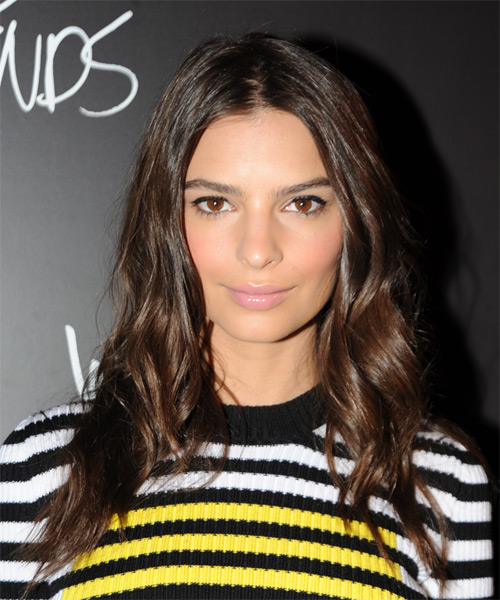 Emily Ratajkowski Long Straight Casual Hairstyle