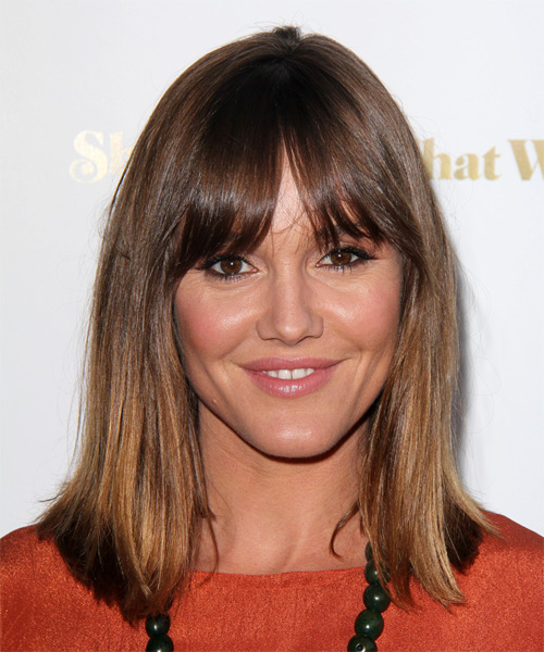 Erinn Hayes Medium Straight Casual Hairstyle - Medium Brunette Hair Color
