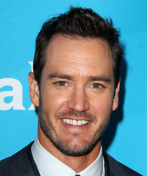 Mark Paul Gosselaar Short Straight Casual Hairstyle - Dark Brunette Hair Color