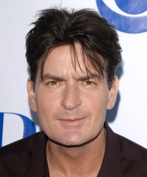 Charlie Sheen Short Straight Hairstyle