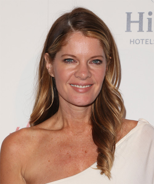 Michelle Stafford Long Wavy Casual Hairstyle - Medium Brunette Hair Color