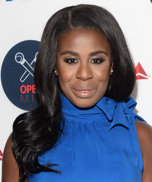 Uzo Aduba Long Wavy Formal Hairstyle - Black Hair Color