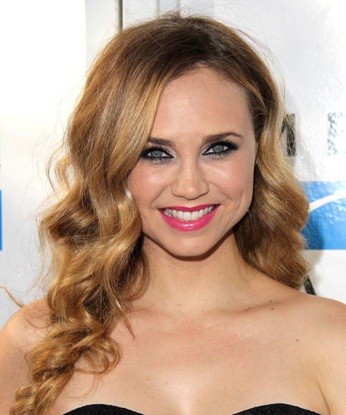 Fiona Gubelmann Long Wavy Formal Hairstyle - Dark Blonde Hair Color