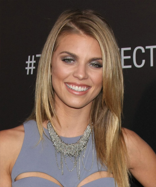 AnnaLynne McCord Long Straight Formal Hairstyle - Dark Blonde Hair Color