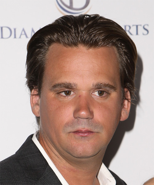 Sean Stewart Short Straight Formal Hairstyle - Medium Brunette Hair Color