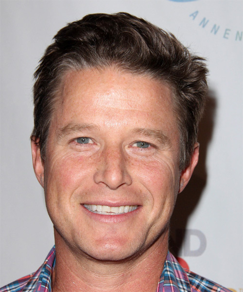 Billy Bush Short Straight Casual Hairstyle - Medium Brunette Hair Color