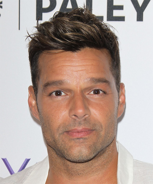 Ricky Martin Short Straight Casual Hairstyle