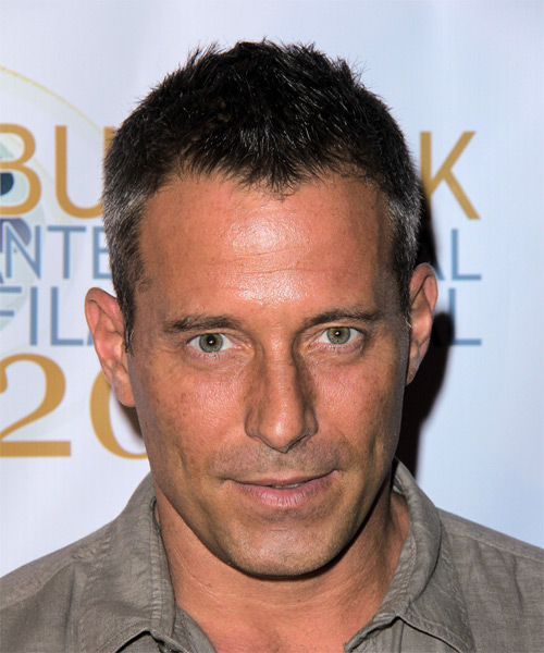 Johnny Messner Short Straight Casual Hairstyle - Dark Brunette Hair Color
