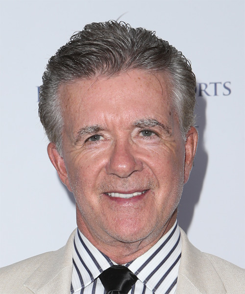 Alan Thicke Short Straight Formal Hairstyle - Medium Grey Hair Color