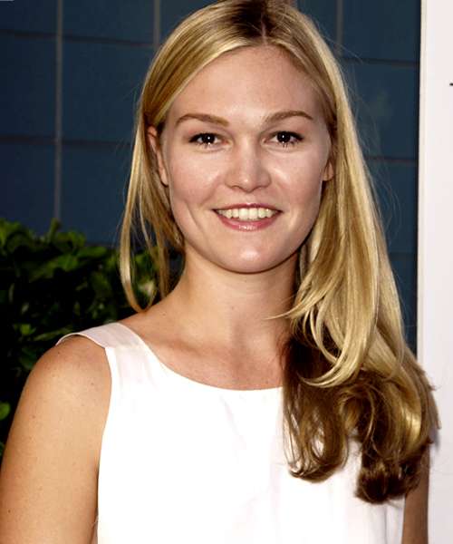 Julia Stiles - Casual Long Straight Hairstyle