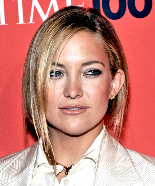Kate Hudson Casual Straight Updo Hairstyle