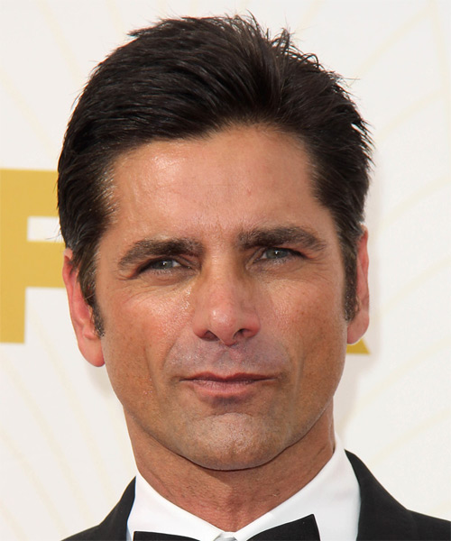 John Stamos Short Straight Formal Hairstyle - Dark Brunette Hair Color