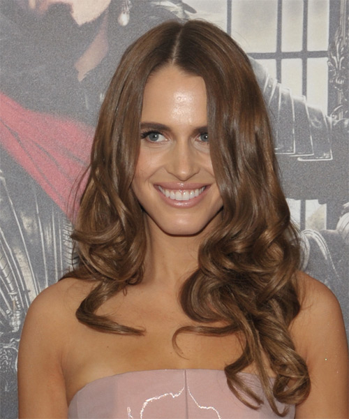 Alexandra Siegel Long Wavy Formal Hairstyle - Medium Brunette Hair Color