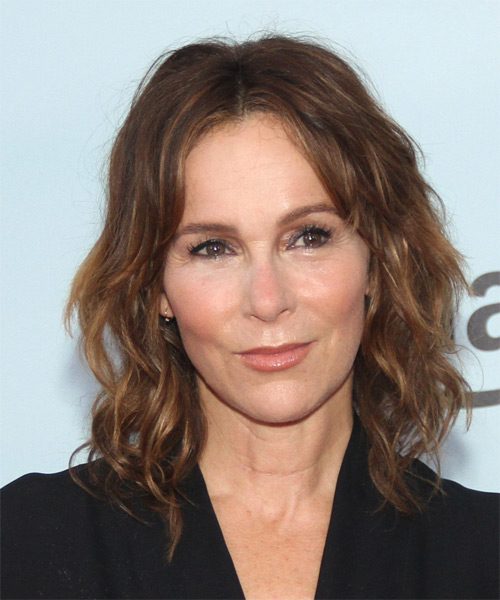 Jennifer Grey Medium Wavy Casual Hairstyle - Brunette Hair ... Jennifer Grey
