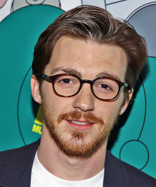 Drake Bell Short Straight Casual Hairstyle - Medium Brunette Hair Color