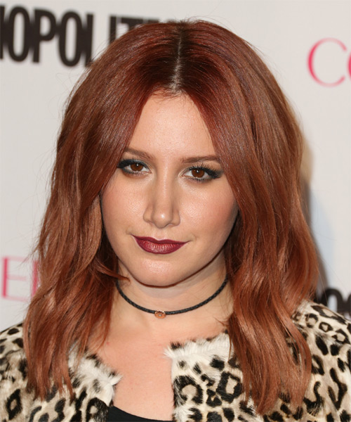 Ashley Tisdale Long Wavy Casual  - Medium Red (Auburn)