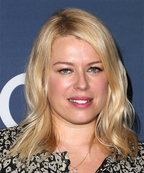 Amanda De Cadenet Medium Straight Casual Hairstyle - Medium Blonde (Golden) Hair Color