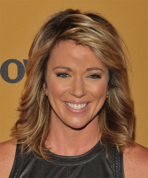Brooke Baldwin Medium Straight Casual Hairstyle - Dark Blonde Hair Color