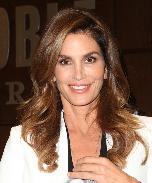 Cindy Crawford Long Wavy Casual  - Dark Brunette