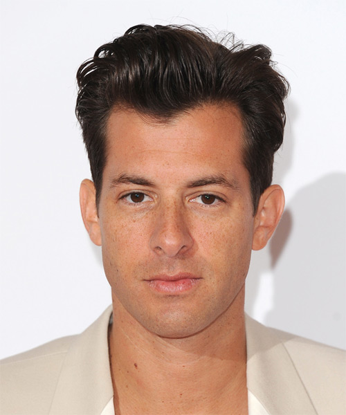 Mark Ronson Short Straight Formal Hairstyle - Dark Brunette Hair Color