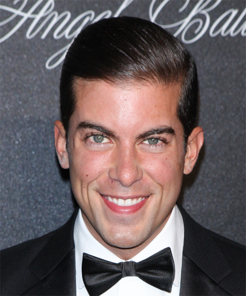 Luis D Ortiz Short Straight Formal Hairstyle - Dark Brunette (Mocha) Hair Color